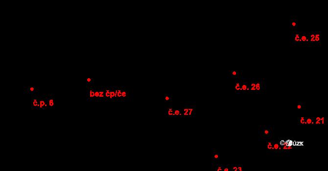 Stav 27, Úbislavice na parcele st. 119 v KÚ Stav, Katastrální mapa