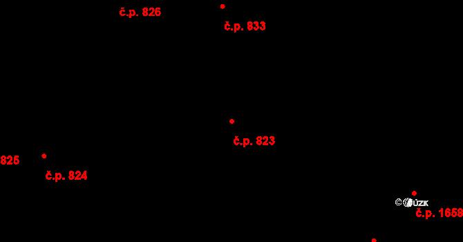 Nové Město 823, Praha na parcele st. 33 v KÚ Nové Město, Katastrální mapa