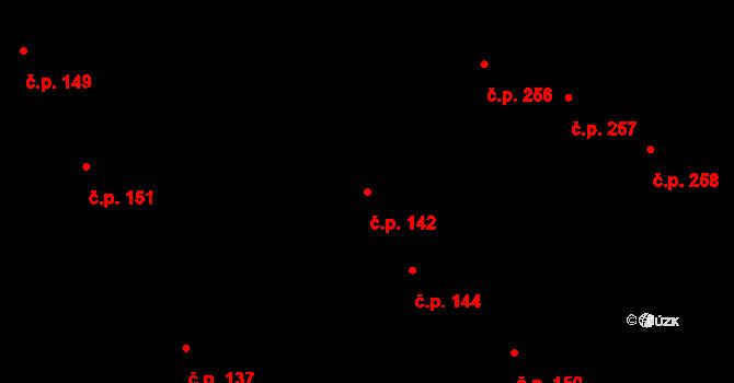 Černovice 142, Brno na parcele st. 84 v KÚ Černovice, Katastrální mapa