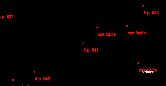 Vítkovice 541, Ostrava na parcele st. 402/7 v KÚ Vítkovice, Katastrální mapa