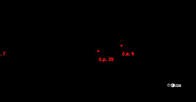 Stan 29, Lestkov na parcele st. 39/1 v KÚ Stan u Lestkova, Katastrální mapa