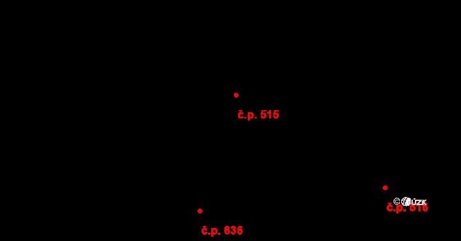 Litice 515, Plzeň na parcele st. 2305/3 v KÚ Valcha, Katastrální mapa