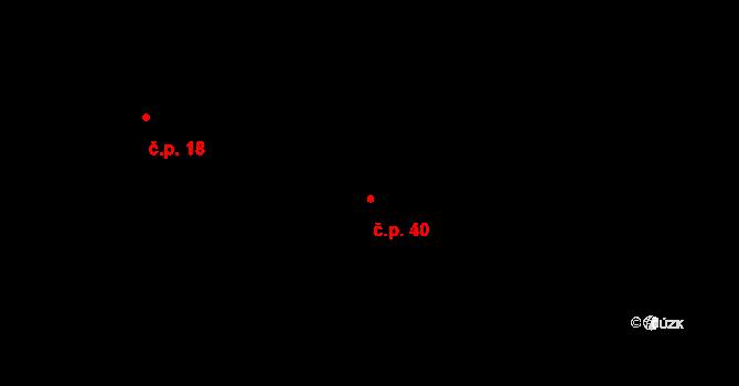 Červený Újezd 40, Zbůch na parcele st. 1159/3 v KÚ Červený Újezd u Zbůchu, Katastrální mapa