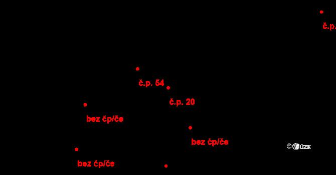 Slavonice 20 na parcele st. 416/4 v KÚ Slavonice, Katastrální mapa