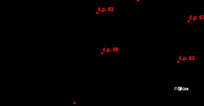 Sedlejov 59 na parcele st. 64 v KÚ Sedlejov, Katastrální mapa