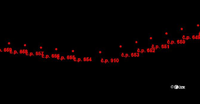 Kaplice 910 na parcele st. 2029/75 v KÚ Kaplice, Katastrální mapa
