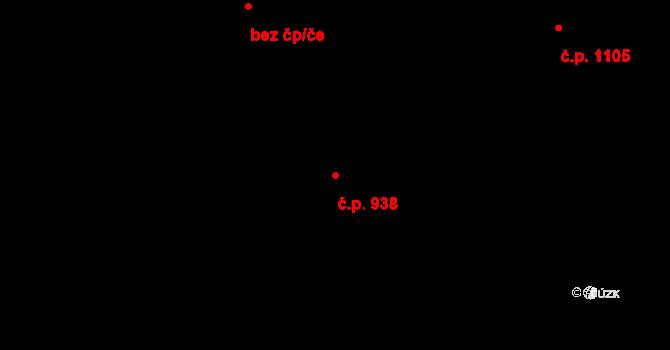 Stonava 938 na parcele st. 358 v KÚ Stonava, Katastrální mapa