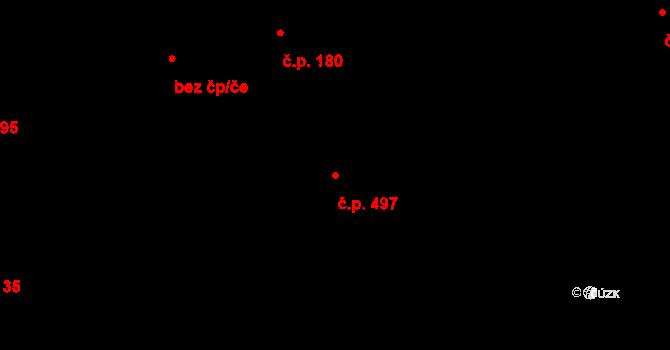 Žamberk 497 na parcele st. 2539 v KÚ Žamberk, Katastrální mapa