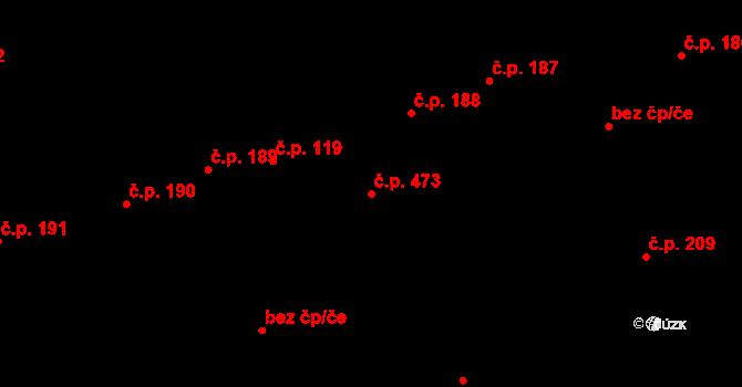 Buštěhrad 473 na parcele st. 817 v KÚ Buštěhrad, Katastrální mapa