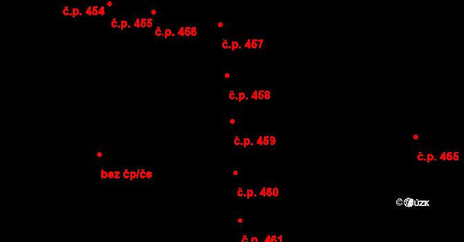 Olomouc 459 na parcele st. 343 v KÚ Olomouc-město, Katastrální mapa