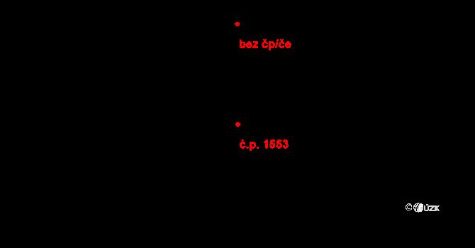 Zlín 1553 na parcele st. 2024/1 v KÚ Zlín, Katastrální mapa