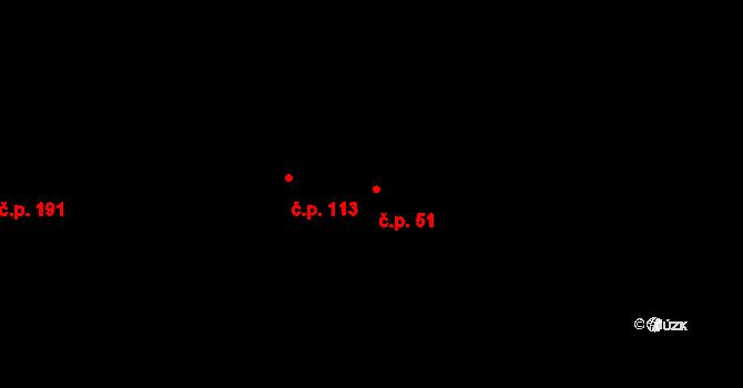 Budišov 51 na parcele st. 79/1 v KÚ Budišov, Katastrální mapa