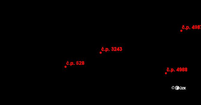 Zlín 3243 na parcele st. 3759 v KÚ Zlín, Katastrální mapa