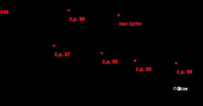 Staré Město 88, Praha na parcele st. 48 v KÚ Staré Město, Katastrální mapa