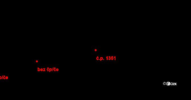 Zábřeh 1351, Ostrava na parcele st. 2853 v KÚ Zábřeh nad Odrou, Katastrální mapa