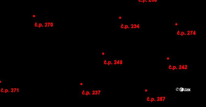 Vtelno 248, Most na parcele st. 460 v KÚ Vtelno, Katastrální mapa