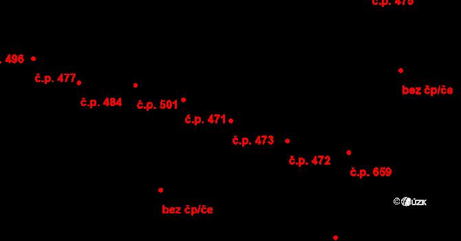Jižní Předměstí 473, Plzeň na parcele st. 9634/1 v KÚ Plzeň, Katastrální mapa