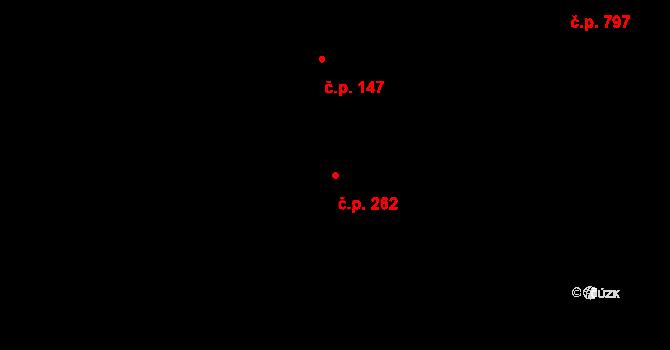 Zábrdovice 262, Brno na parcele st. 506 v KÚ Zábrdovice, Katastrální mapa
