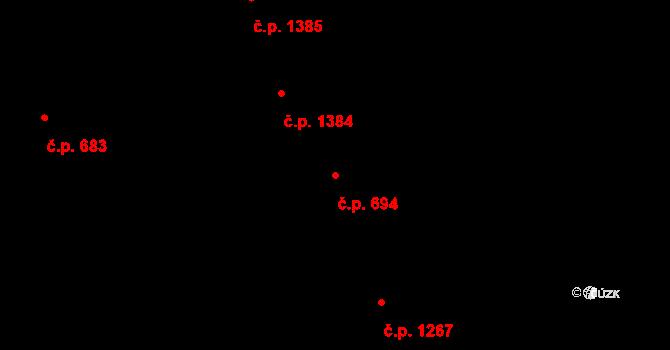 Nové Město 694, Praha na parcele st. 2034 v KÚ Nové Město, Katastrální mapa