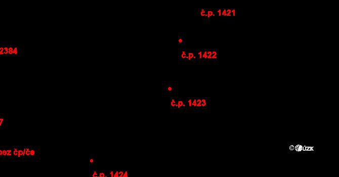 Dobrá Voda u Českých Budějovic 1423 na parcele st. 3434 v KÚ Dobrá Voda u Českých Budějovic, Katastrální mapa