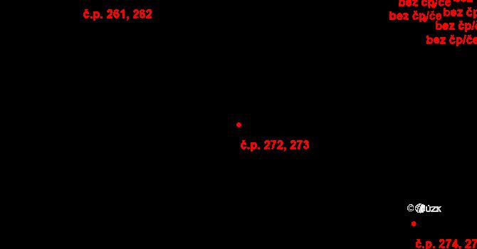 Senec 272,273, Zruč-Senec na parcele st. 773/2 v KÚ Senec u Plzně, Katastrální mapa