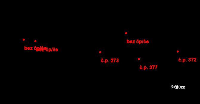 Doksy 273 na parcele st. 386/1 v KÚ Doksy u Kladna, Katastrální mapa