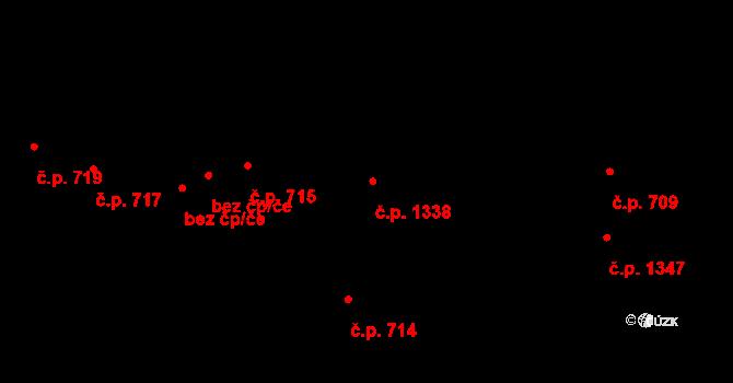 České Budějovice 6 1338, České Budějovice na parcele st. 1466/3 v KÚ České Budějovice 6, Katastrální mapa