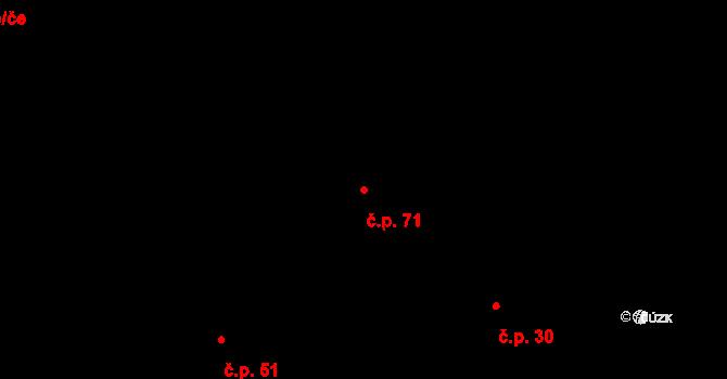 Malé Březno 71 na parcele st. 282/3 v KÚ Malé Březno, Katastrální mapa