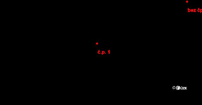 Sloup 1, Davle na parcele st. 122/15 v KÚ Davle, Katastrální mapa