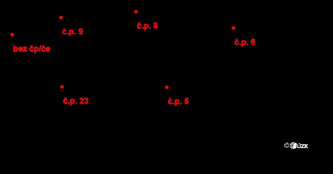 Řečice 5, Blatná na parcele st. 302 v KÚ Blatná, Katastrální mapa