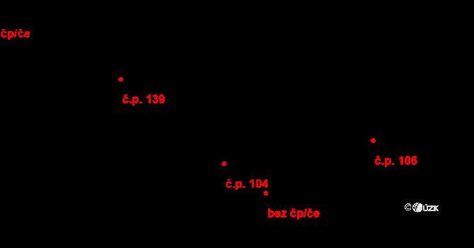 Nová Říše 104 na parcele st. 46/1 v KÚ Nová Říše, Katastrální mapa