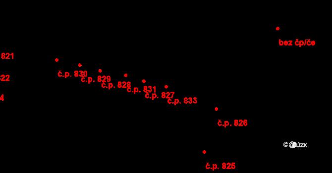 Újezd 833, Plzeň na parcele st. 982/136 v KÚ Újezd, Katastrální mapa