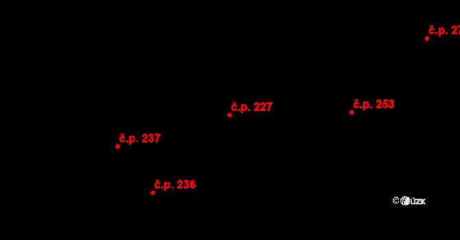 Pohled 227 na parcele st. 340 v KÚ Pohled, Katastrální mapa