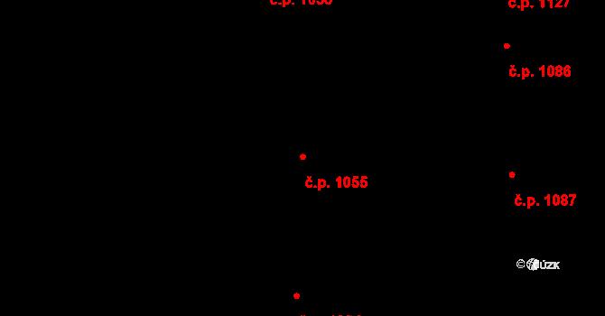 Nivnice 1055 na parcele st. 1981/65 v KÚ Nivnice, Katastrální mapa