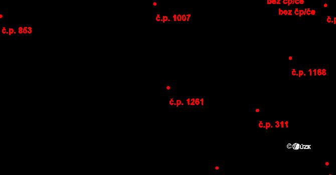 Liberec VI-Rochlice 1261, Liberec na parcele st. 1583/400 v KÚ Rochlice u Liberce, Katastrální mapa