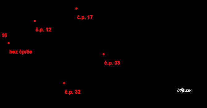 Dolní Bezděkov 33, Bratronice na parcele st. 88 v KÚ Dolní Bezděkov u Kladna, Katastrální mapa