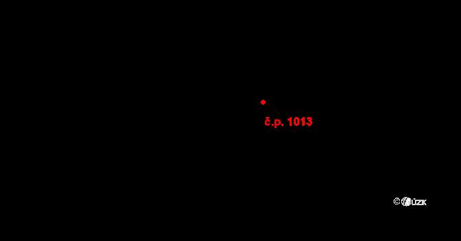 Dubí 1013, Kladno na parcele st. 1929/5 v KÚ Dubí u Kladna, Katastrální mapa