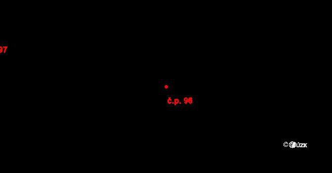 Davle 96 na parcele st. 214 v KÚ Davle, Katastrální mapa