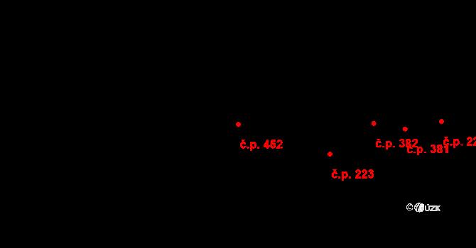 Nemilany 452, Olomouc na parcele st. 622/2 v KÚ Nemilany, Katastrální mapa