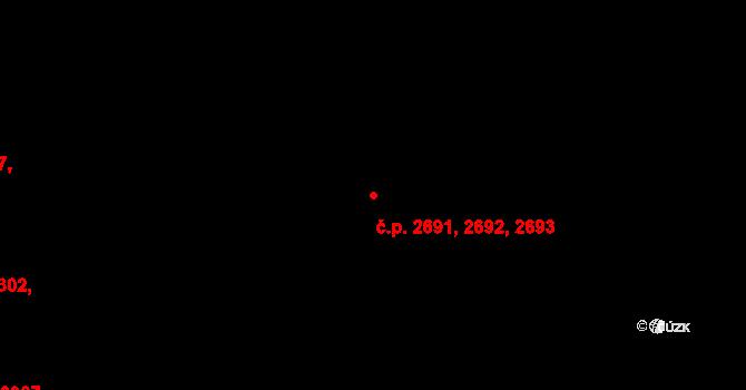 Severní Terasa 2691,2692,2693, Ústí nad Labem na parcele st. 4949/126 v KÚ Ústí nad Labem, Katastrální mapa