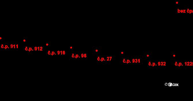 Vršovice 27, Praha na parcele st. 1088 v KÚ Vršovice, Katastrální mapa