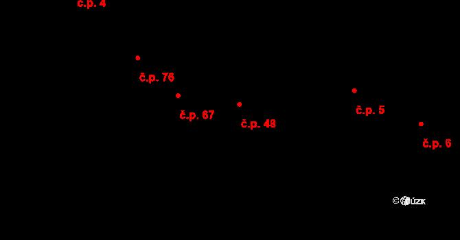 Bohaté Málkovice 48 na parcele st. 52/2 v KÚ Bohaté Málkovice, Katastrální mapa