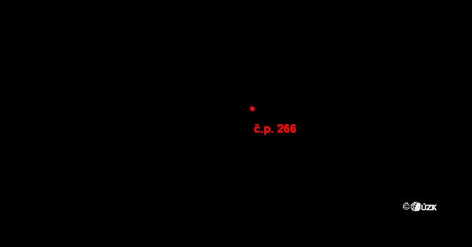 Michle 266, Praha na parcele st. 436/37 v KÚ Michle, Katastrální mapa