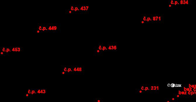 Vítkovice 436, Ostrava na parcele st. 279/1 v KÚ Vítkovice, Katastrální mapa