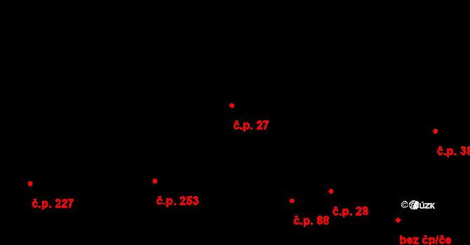 Pohled 27 na parcele st. 61 v KÚ Pohled, Katastrální mapa