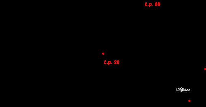 Libín 20 na parcele st. 89 v KÚ Libín, Katastrální mapa