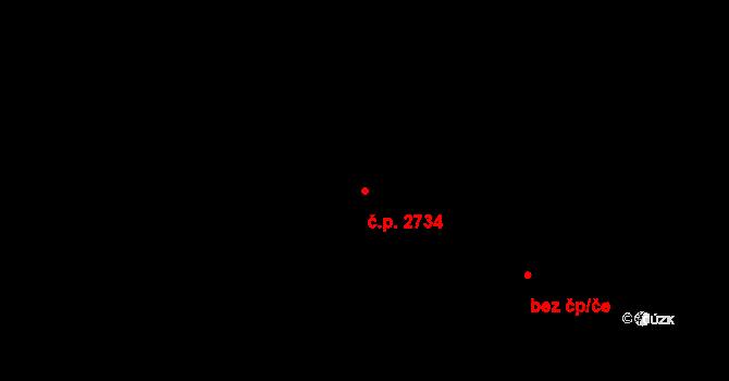 Zlín 2734 na parcele st. 2637 v KÚ Zlín, Katastrální mapa