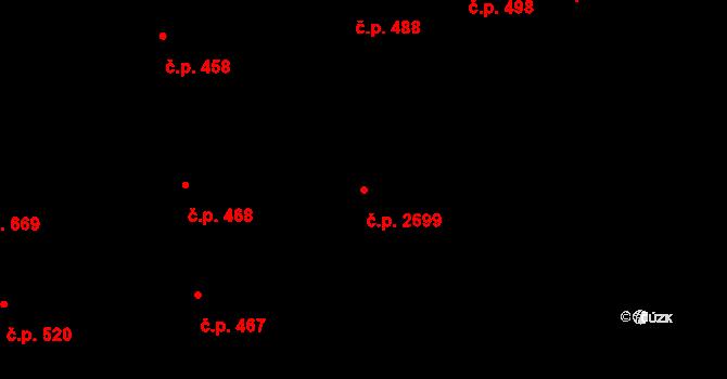 Zelené Předměstí 2699, Pardubice na parcele st. 987/2 v KÚ Pardubice, Katastrální mapa