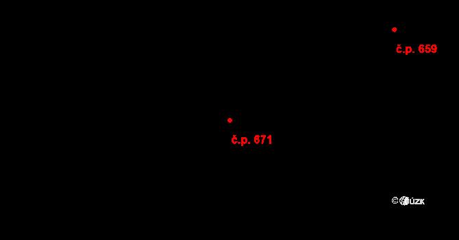 Horní Kosov 671, Jihlava na parcele st. 1293/176 v KÚ Horní Kosov, Katastrální mapa