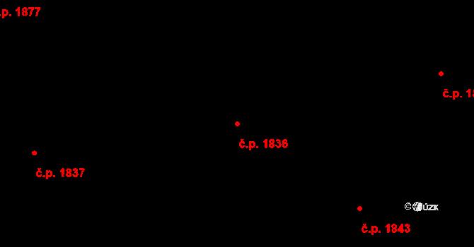 Bílé Předměstí 1836, Pardubice na parcele st. 10481 v KÚ Pardubice, Katastrální mapa
